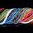 100 Pcs Czech crystal faceted rondelle spacer beads 2x3 3x4 4x6 6x8 8x10mm DIY