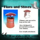 Chimney Pot Cowl Bird Guard Solid Fuel RainTop Terracotta Colour Colt strap fix