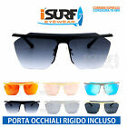 OCCHIALI DA SOLE MARCA ISURF ACTIVE GOMORRA MONTATURA METALLO GRANDE  FASHION