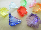 19mm 20/50/100pcs CLEAR ASSORTED COLORS ACRYLIC FLOWER BEADS CC4905