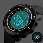 SKMEI Men's Army Outdoor Sport LED Electronic Compass Rubber Digital Wrist Wach