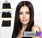 "4""x4"" new Silk Top Lace Closures Silk Base Closure Straight 100% Remy human Hair"