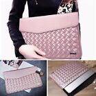 15 inch Weaving Laptop Bag PU Leather Case Cover Bag for Makbook Laptop
