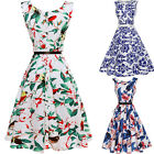 Retro Women 50s 60s Rockabilly Swing Pinup Summer Party Evening Chiffon Dress