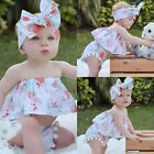 Newborn Baby Girls Sleeveless Tops+ Shorts Pants Headband 3PCS Outfits Clothes