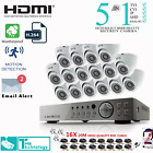 16 CH Full HD 1080P 2.4MP Night Vision Outdoor Security CCTV Camera System Kit