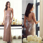 Glitter Mermaid Bridesmaid Prom Dress Ever-Pretty Maxi Sequin Evening Gown 07087