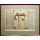 1760 Scientific Instruments Hand Colored Engraving