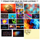ABSTRACT POSTER, ABYSS LINES HEARTS SKULL LORD VADER SHIP, CHOOSE IMAGE and SIZE