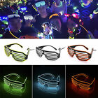 Music Sensing EL Wire Glasses Light Up Glow Sunglasses Eyewear Nightclub Party