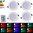 4X 5W/10W RGB LED Recessed Ceiling Light Panel Down Light Lamp +Remote Control