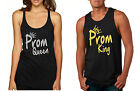 NEW Couple Tank Top Prom Queen King Gold Silver Cool Prom Tops
