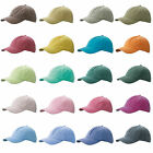 Mens Womens Vintage Baseball Cap Denim Hat Brushed Washed Cotton Low Profile UK