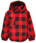 Boys Tartan Checked Padded Fleece Lined Hood Coat 2-3 Years SALE