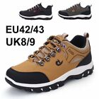 Mens Boots Hiking Waterproof  Walking Worker Black Boots Lace Up Ankle Boot Shoe