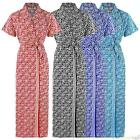 NEW WOMENS 100% COTTON SUMMER DRESSING GOWN ROBE LADIES  BATH ROBE