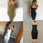 Hanging Neck Women Sexy Cover Up Sleeveless Split Party Cocktail Clubwear Dress