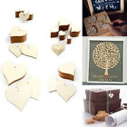 Wood Heart Plain Wooden Slices Shabby Chic Craft Scrapbook Vintage Confetti