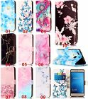 Marble butterfly flower slim leather stand cover case for Huawei iPhone ZTE