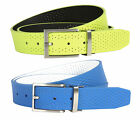 Nike Golf Tour Performance - Perforated Reversible Mens Leather Belt  Blue Volt