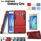 Hybrid Armor Case Cover+Tempered Glass Screen Protector for Samsung Galaxy On5