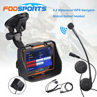 "4.3"" Waterproof GPS 8GB Motorcycle Car SAT NAV Maps installed+Bluetooth Headset"