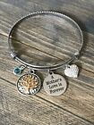 A Mother's Love is Forever Family Tree of Life Mothers Day Heart Charm Bracelet