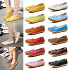 Womens Flat Loafers Casual Comfort Slip On Hollow Bow Pumps Shoes Sizes