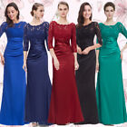 Ever-Pretty Women's Long Bridesmaid 3/4 Sleeve Party Dresses Evening Prom 09882