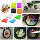72PCS Wheel Spoke Wraps Covers Kit Rims Skins Guard Motocross Protector Pit Dirt