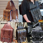 HILASON WESTERN LEATHER COWBOY TRAIL RIDE HORSE SADDLE BAG 11 INCH X 10.5 INCH