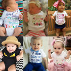 Baby Boys Girl's Newborn Short Sleeve Cute Jumpsuit Romper Clothes T-shirt Tops
