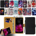 Leather Flip Card Wallet Stand Cover Case For Various LG SmartPhone + Strap