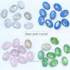 opal color point back crystal glass stone oval foiled rhinestone Nail Art jewels