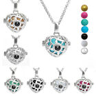 Silver Heart Locket Cage Mexican Bola Pendant Necklace 16mm Chiem Harmony Ball