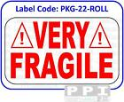 VERY FRAGILE Warning Labels Red Packaging Labels Stickers On Roll - PKG-22-ROLL