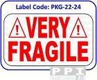 VERY FRAGILE Warning Labels Red Packaging Labels Stickers On Sheets - PKG-22-24