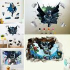 3D Batmen Wall Stickers Removable Kids Nursery Room Home Decor Mural Arts Decal