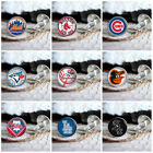 Baseball team new mens silver cufflinks set in box for weddings, gift, prom