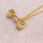 1Pc New Dumbbell Pendant Necklace Alloy Chain Necklaces Men Women Sports Jewelry