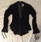 Nightmare Before Christmas Goth Hot Topic Flocked Jacket Jack NEW XS - 2XL