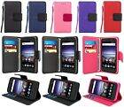 For ZTE Prestige 2 (N9136) Leather Flip Fold Wallet Case with Card Slot & Strap