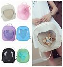 Fashion  Womens  Transparent Heart Shaped Backpack Schoolbag Travel Hiking Bags