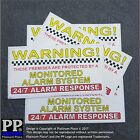 Premises Alarm System Monitored Warning Security Stickers-Home,Business Signs-FC