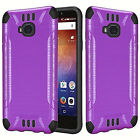 For Huawei Ascend XT Brushed Dual Layer Slim Armor Hybrid Cover Case фото