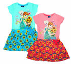 Girls Disney Frozen Anna & Elsa Sunflowers Rara Skirt Dress 2 to 8 Years SALE