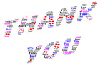 Thank You ~ Personalised Word Art Keepsake Birthday Gift ~ Any Colour
