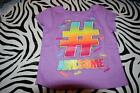 """Garanimals Girl's Lavender Graphic T-Shirt with glitter """"# AWESOME"""" (2T) New/Tag"""