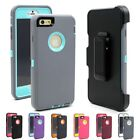Heavy Duty Rugged Protective Case W/Belt Clip Holster Cover for iPhone 6/6S Plus