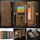Luxury Leather Magnetic Removable Zipper Wallet Cards Wallet Back Case Cover $13.55 USD on eBay